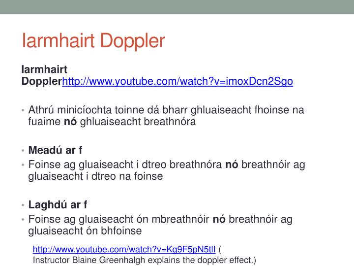 Iarmhairt Doppler
