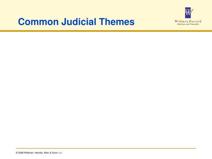 Common Judicial Themes
