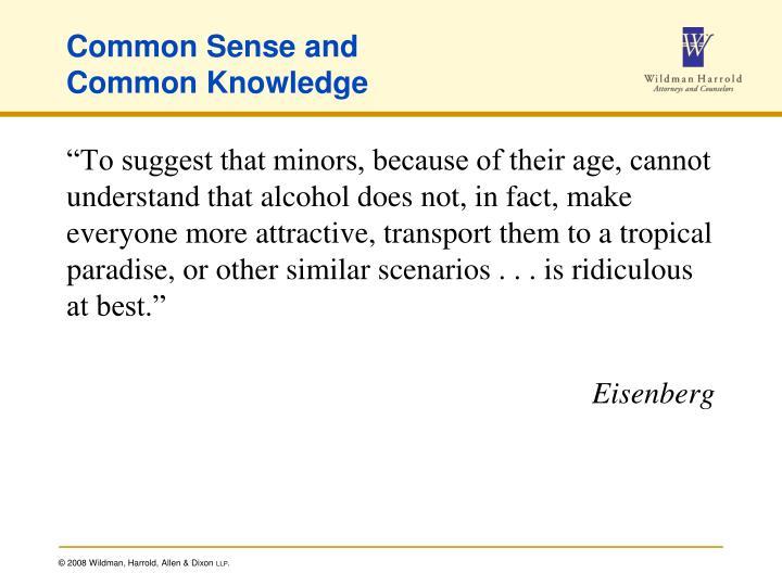 Common Sense and