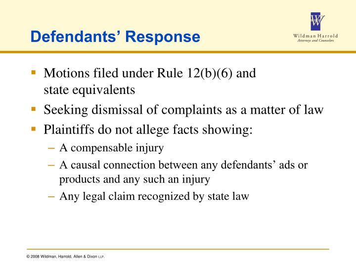 Defendants' Response