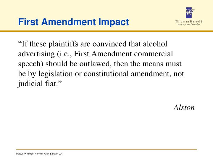 First Amendment Impact