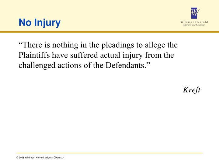 No Injury