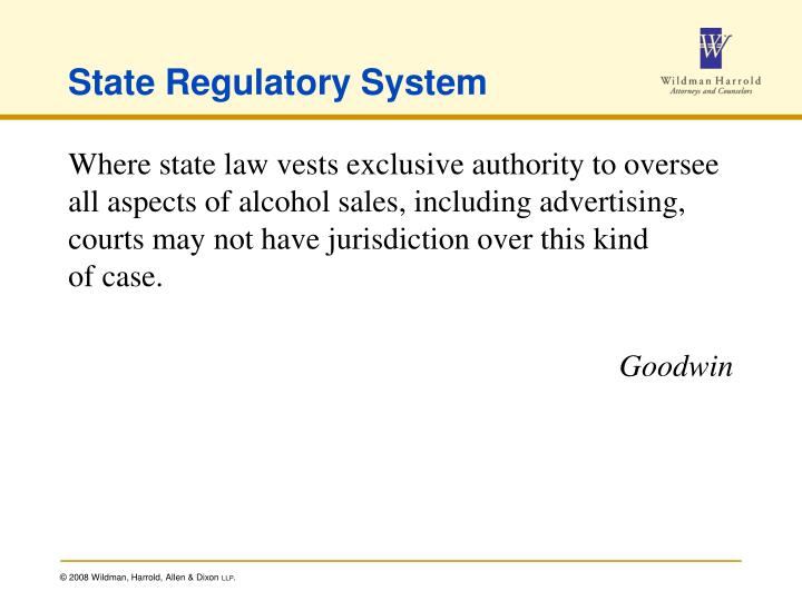 State Regulatory System