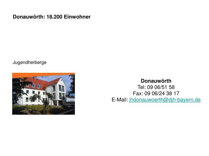 Donauwörth: 18.200 Einwohner