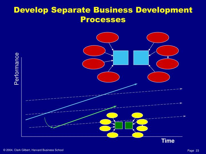 Develop Separate Business Development Processes