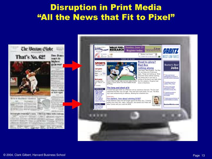 Disruption in Print Media
