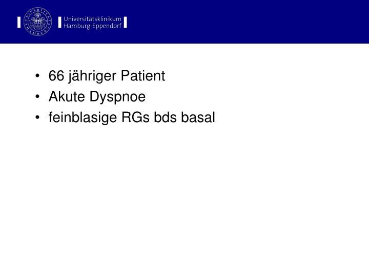 66 jähriger Patient