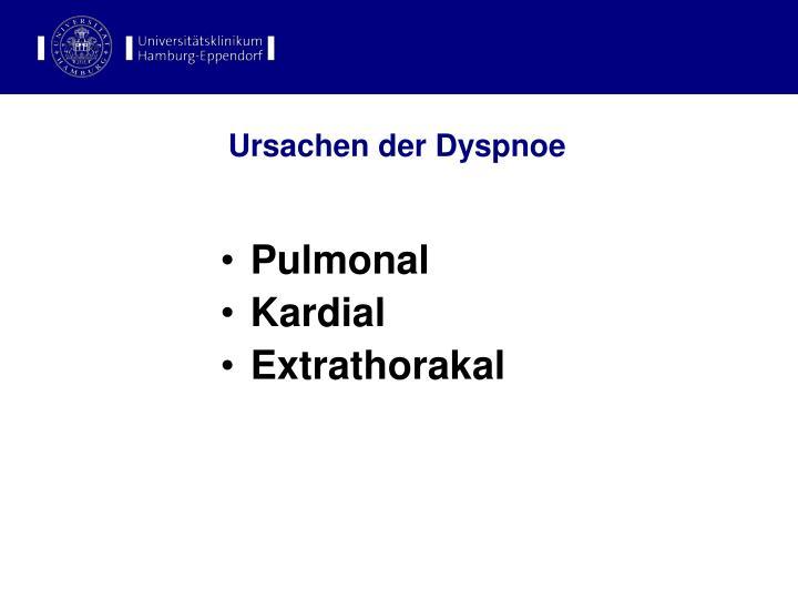Ursachen der Dyspnoe