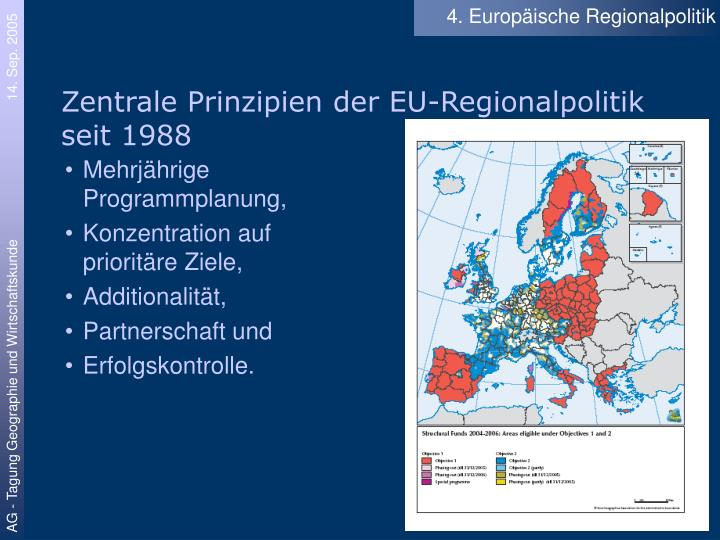 4. Europäische Regionalpolitik