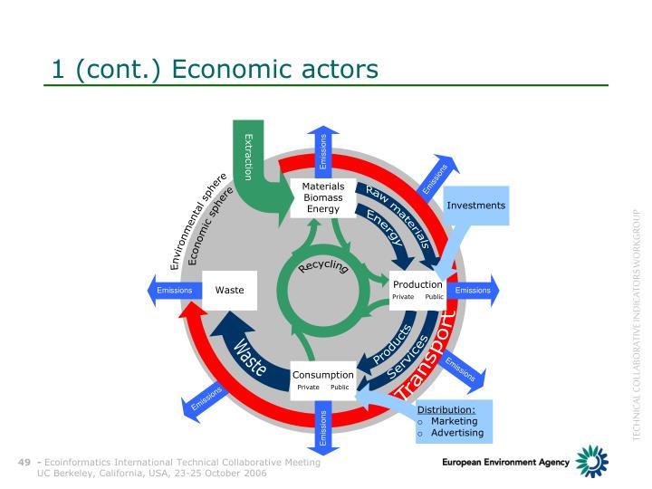 1 (cont.) Economic actors