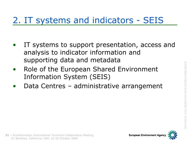2. IT systems and indicators - SEIS