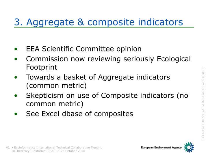 3. Aggregate & composite indicators