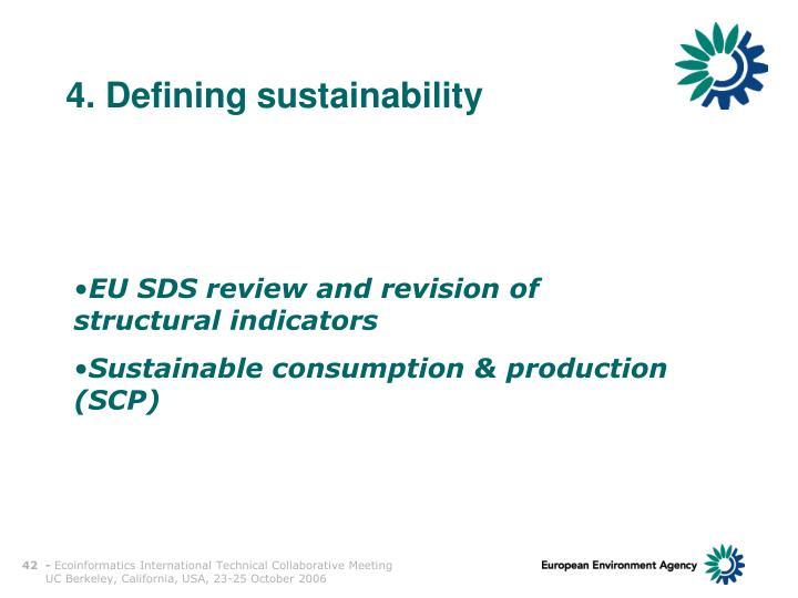 4. Defining sustainability