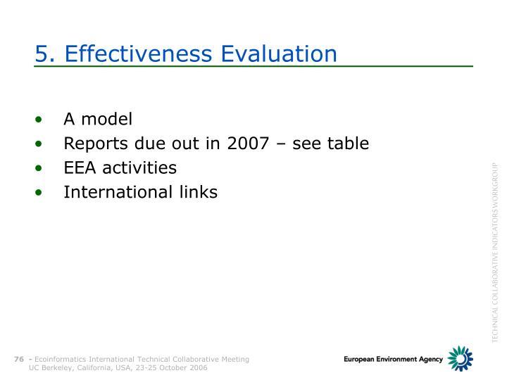 5. Effectiveness Evaluation