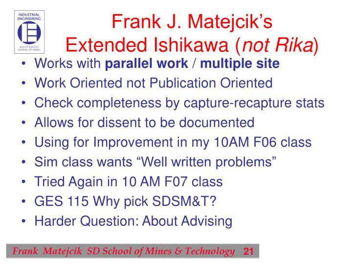 Frank J. Matejcik's