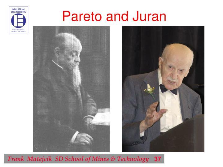 Pareto and Juran