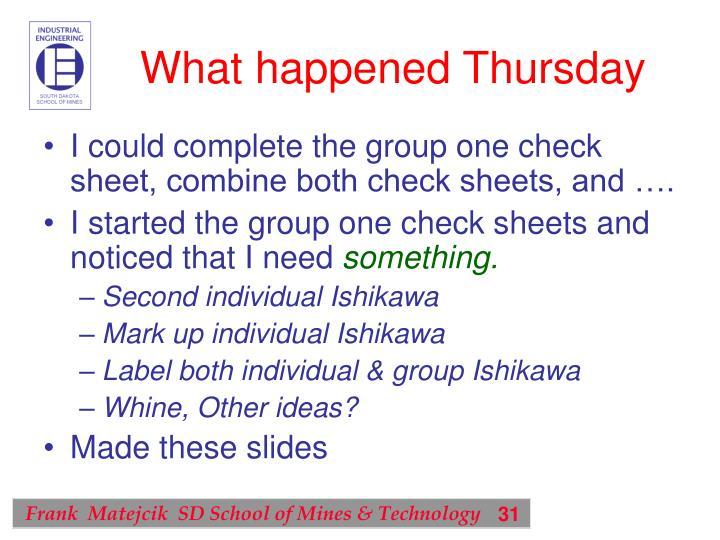 What happened Thursday