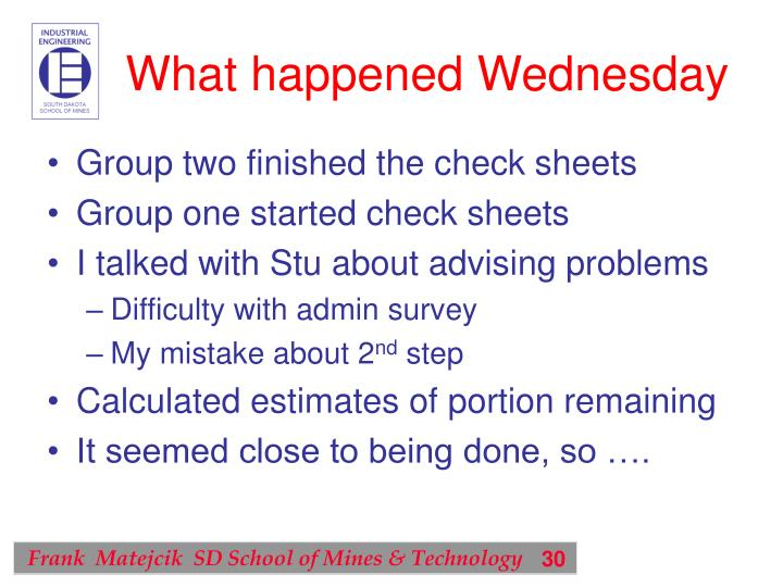 What happened Wednesday