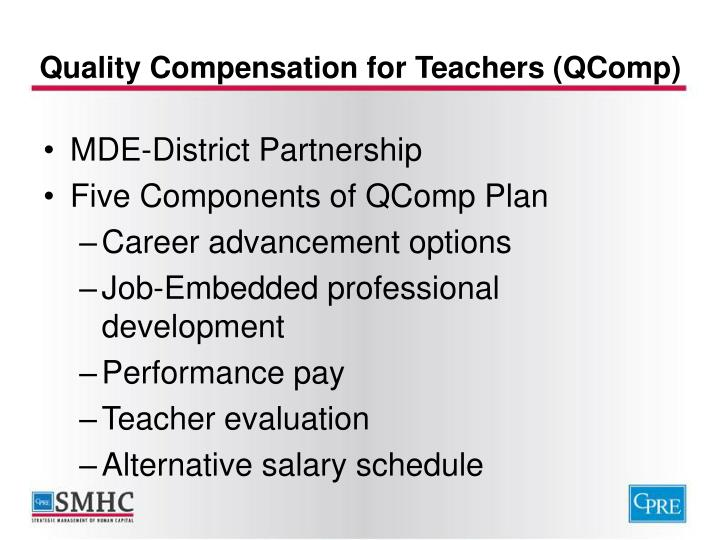 Quality compensation for teachers qcomp