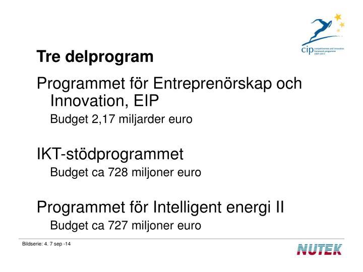 Tre delprogram