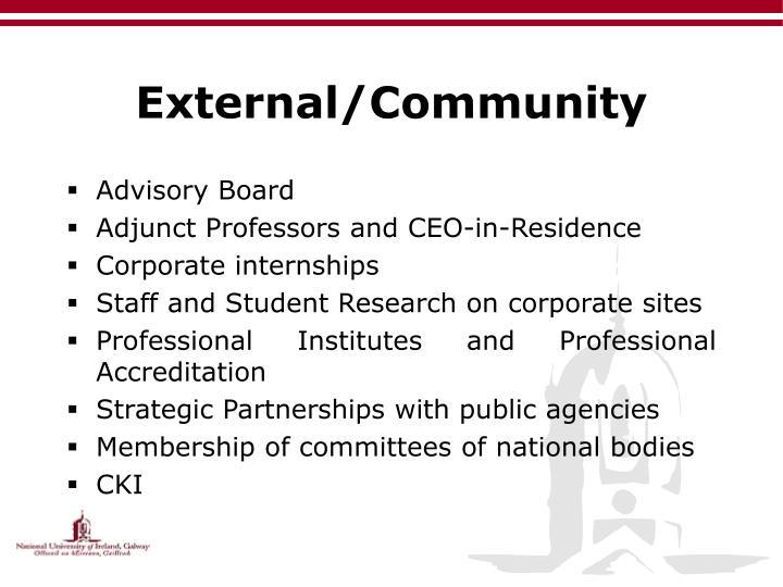 External/Community