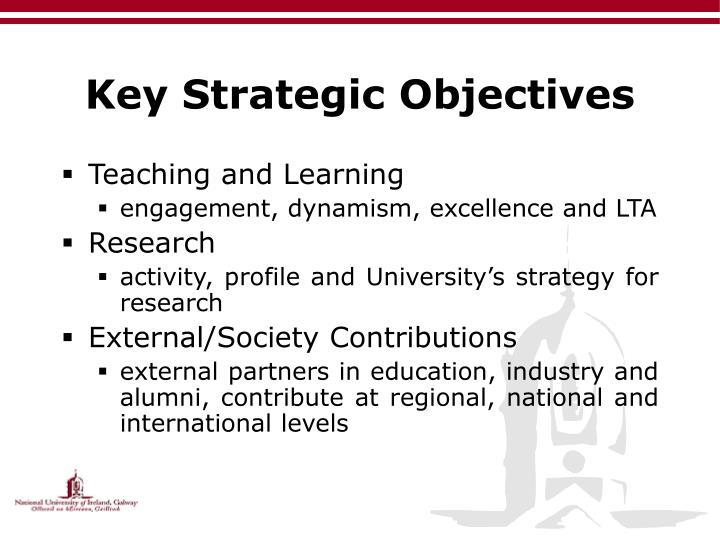 Key Strategic Objectives