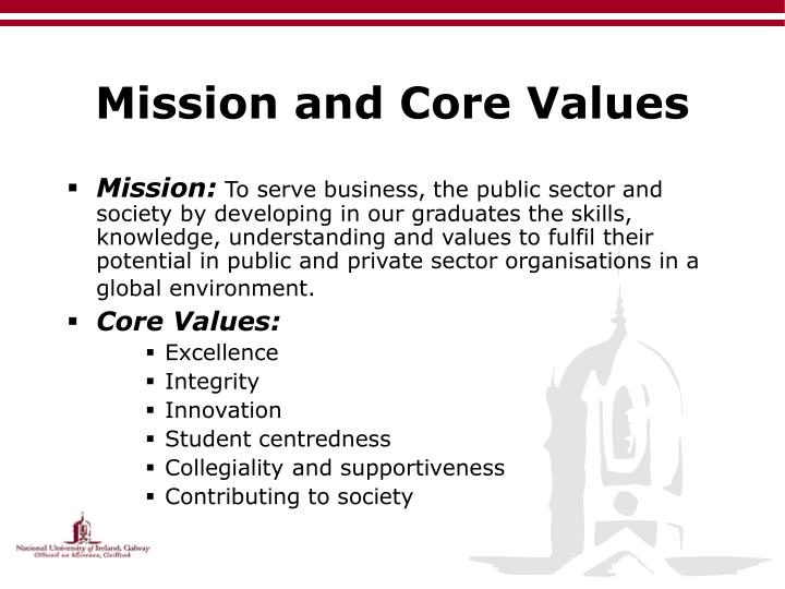 Mission and core values