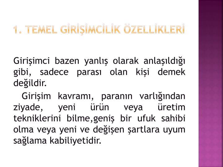 1. Temel