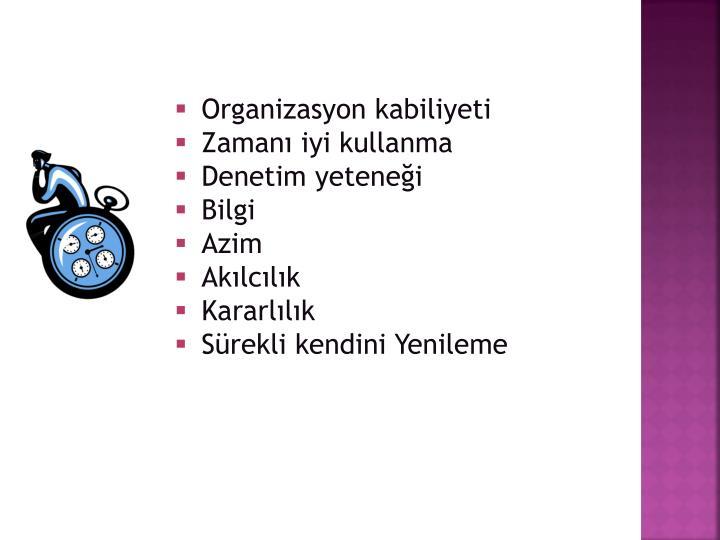 Organizasyon kabiliyeti
