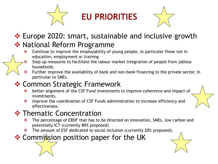 EU PRIORITIES
