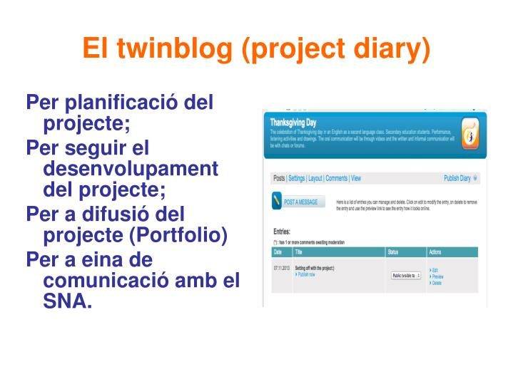 El twinblog (project diary)