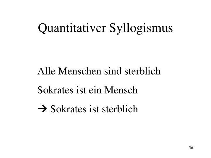 Quantitativer Syllogismus