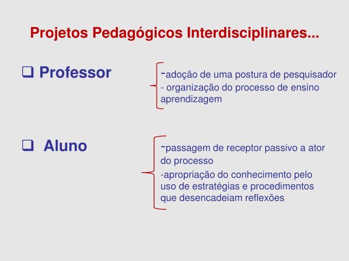 Projetos Pedagógicos Interdisciplinares...