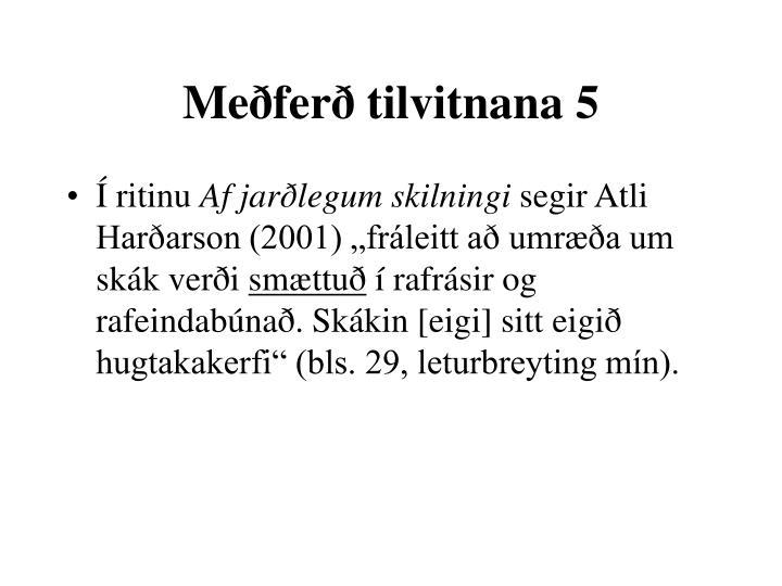 Meðferð tilvitnana 5