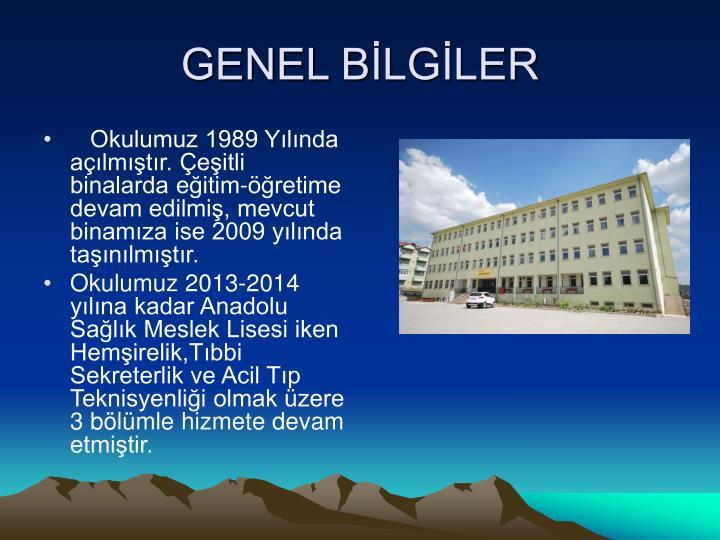 GENEL BLGLER