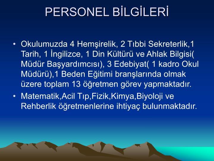 PERSONEL BLGLER