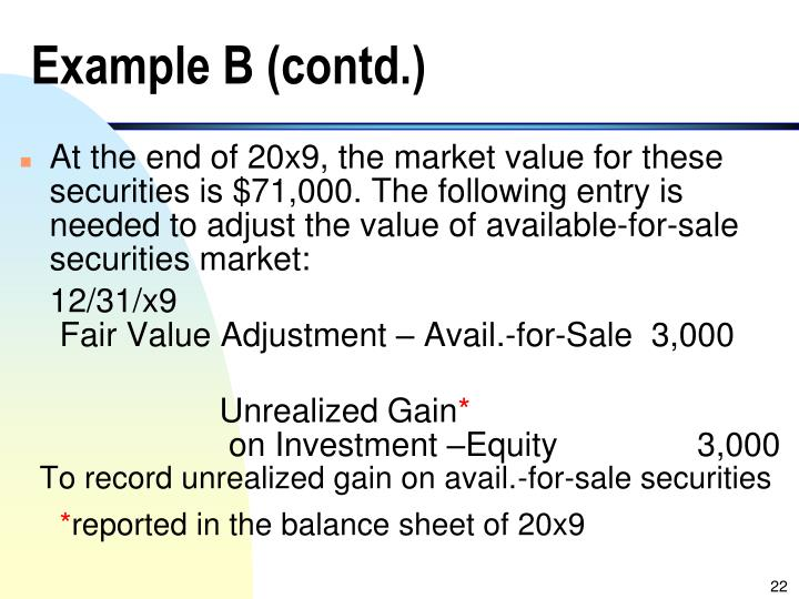 Example B (contd.)