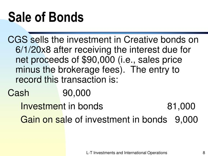 Sale of Bonds
