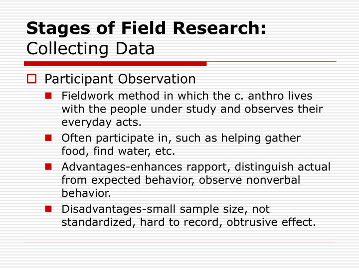 Stages of Field Research: