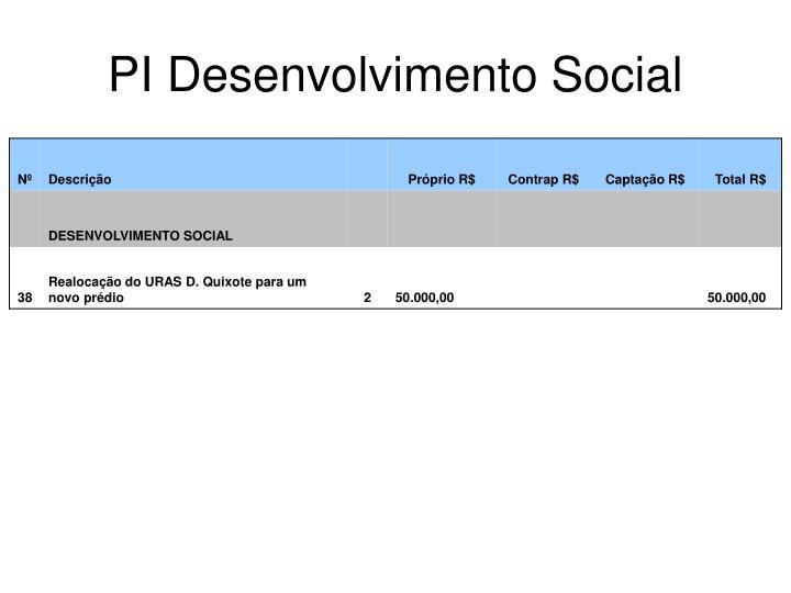 PI Desenvolvimento Social