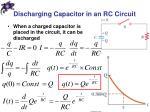 discharging capacitor in an rc circuit