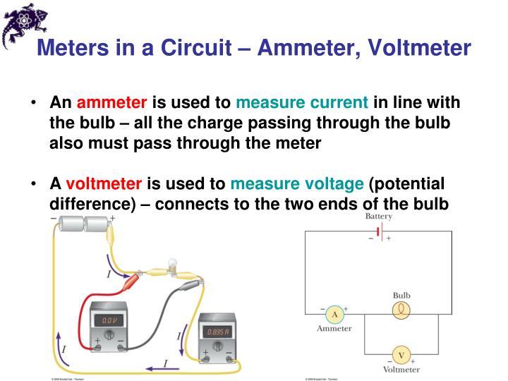 Meters in a Circuit – Ammeter, Voltmeter