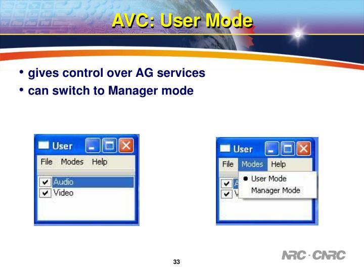 gives control over AG services
