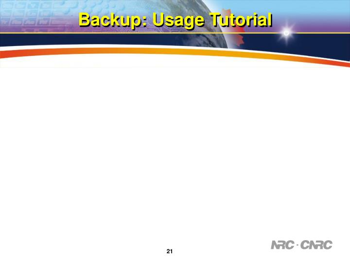 Backup: Usage Tutorial