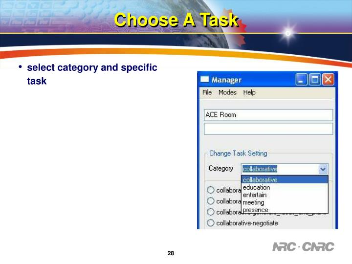 Choose A Task