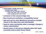 issues and limitations