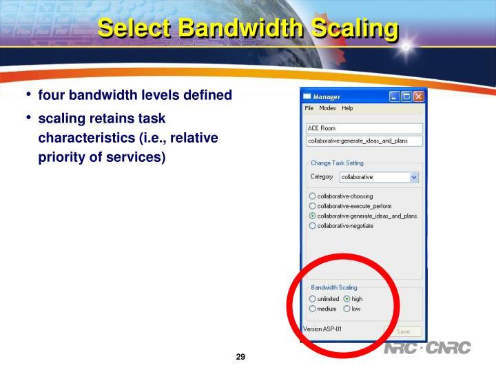 Select Bandwidth Scaling