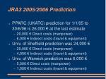 jra3 2005 2006 prediction