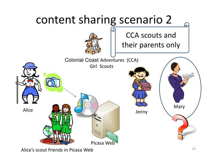 content sharing scenario 2