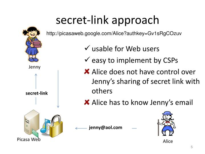 secret-link approach